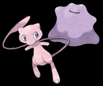 1. Although these secrets and facts were not listed in any particular order, I've saved my favorite one for last: There are rumors that Mew and Ditto are almost identical; Ditto seems to be a failed version of Mew. Both weigh 8.8 pounds each, know how to transform, are pink, but blue when iridescent, and can learn every move - even if it is only temporarily for Ditto.