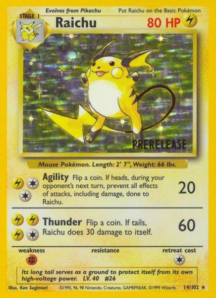 Raichu Prerelease Card