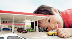 Child with Tomica