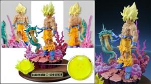 Mekke Dragon Ball Selection Volume 5 Diorama – Super Saiyan Goku and Porunga