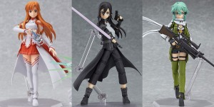 Sword Art Online Figma Figures – Asuna, Kirito, and Sinon