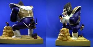 ZEEM Diorama Model – Great Ape Vegeta and Yajirobe Tail Cut Version