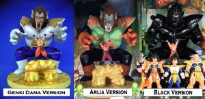 ZEEM Diorama Model – Great Ape Vegeta and Goku: Genki Dama, Arlia, Black, and White Versions
