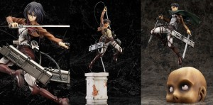 Attack on Titan Good Smile Company 1/8 Figures – Eren, Mikasa, and Levi