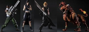 Final Fantasy: Advent Children Play Arts Kai – Cloud, Tifa, Barrett, and Red XIII