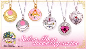 Premium Bandai 20th Anniversary Sailor Moon Necklaces