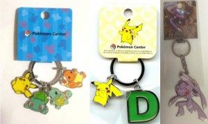 Limited Edition Pokemon Metal and Plastic Keychains