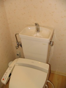 Japanese Toilets Over-Toilet Sink