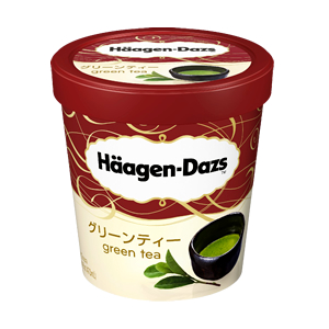 Haagen-Dazs green tea flavored ice-cream