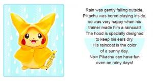 Pokemon Center Monthly Pikachu Raincoat Plush Toy