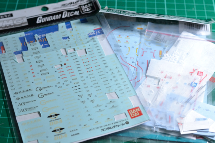 There are three main types of Gundam decals