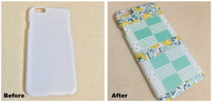 Washi Tape Designs for Cellphone Covers