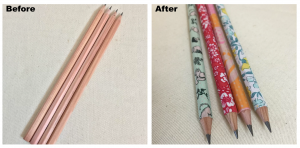 Washi Tape Pencil cover