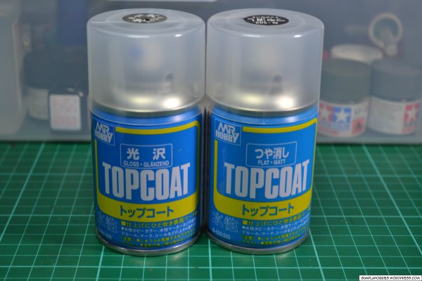 Top coat spray cans