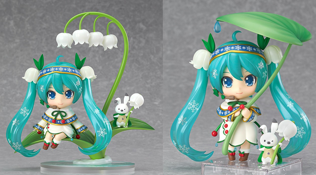 snow miku snow bell Christmas anime figurines