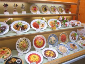 Japanese fake food display