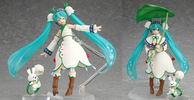 snow miku Christmas anime figurines