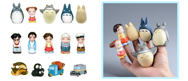 totoro finger puppets