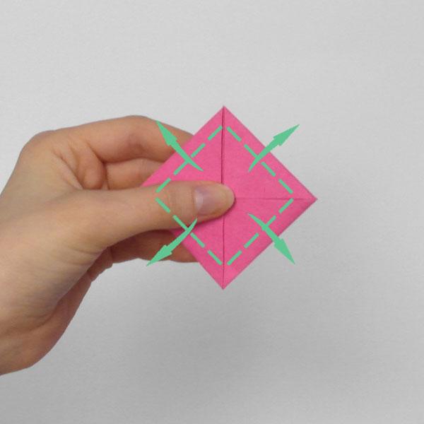 origami rose step 5