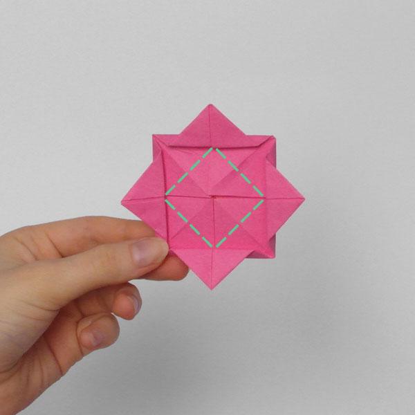 origami rose step 6