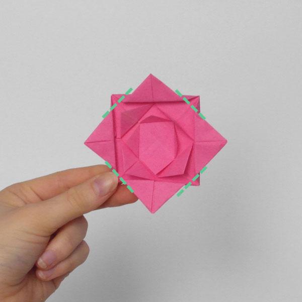 origami rose step 8
