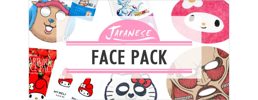 Japanese face packs