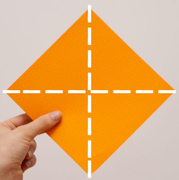 origami cube module step 1