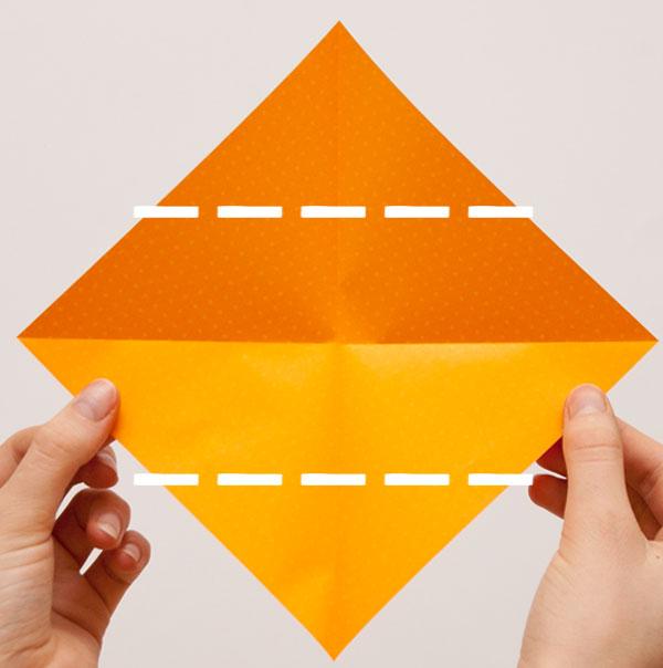origami cube module step 2