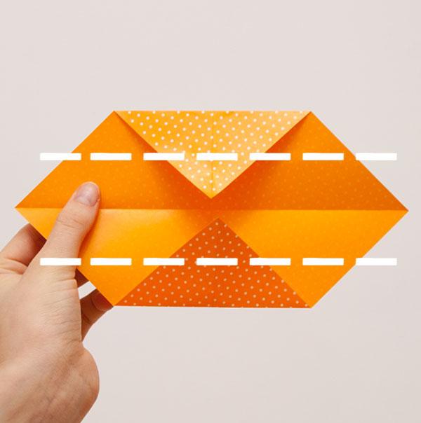 origami cube module step 3