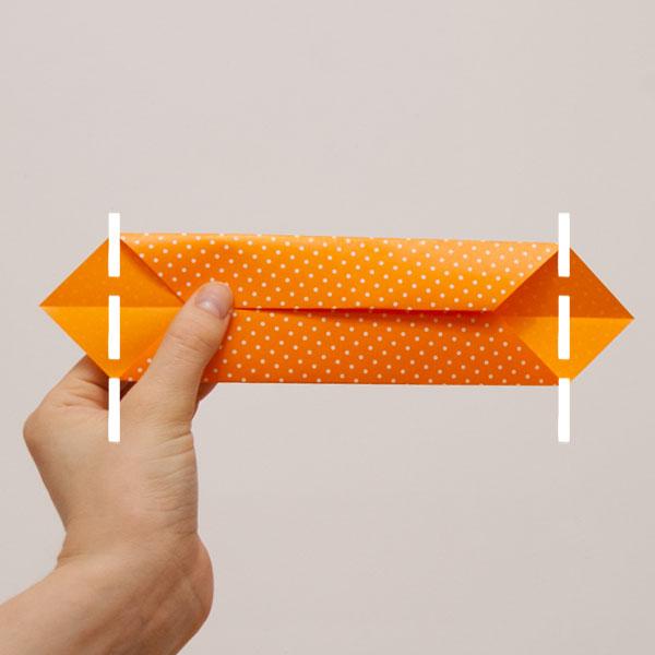 origami cube module step 4