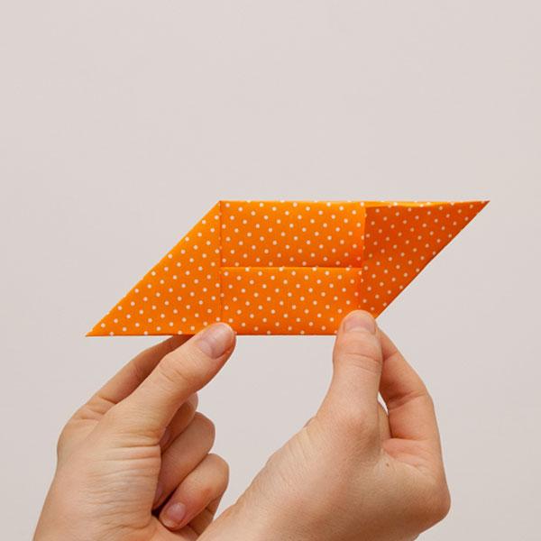 origami cube module step 5