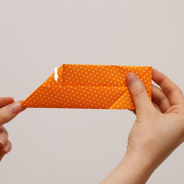 origami cube module step 6
