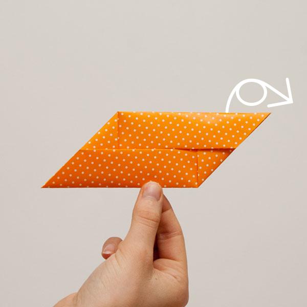 origami cube module step 7