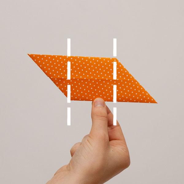 origami cube module step 8