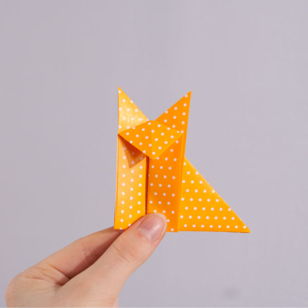 Origami FOX EASY - Yakomoga Origami easy tutorial - YouTube | 600x600