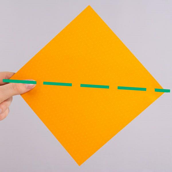 origami fox step 1