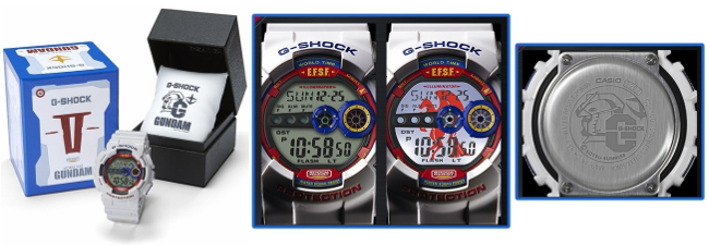 Gundam G-Shock: GD-100 35th Anniversary Models