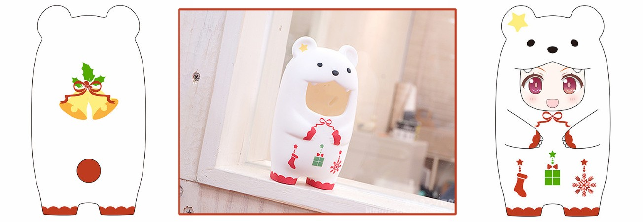 Nendoroid More – Face Parts Case: Christmas Polar Bear Ver.