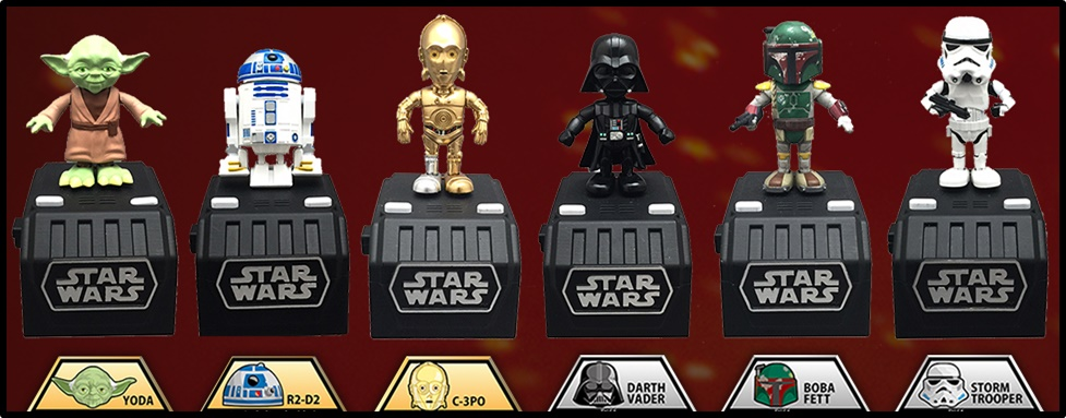 Star Wars Space Opera Figures: Takara Tomy Pop n' Step Series
