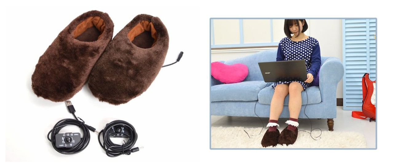 Thanko USB Slippers