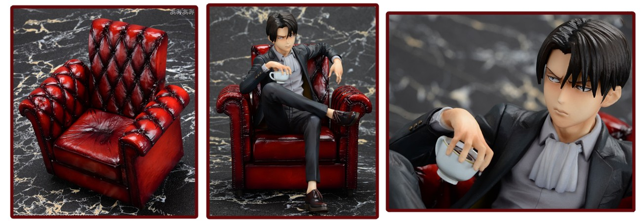 Attack on Titan mensHdge Technical Statue – Levi Ackerman