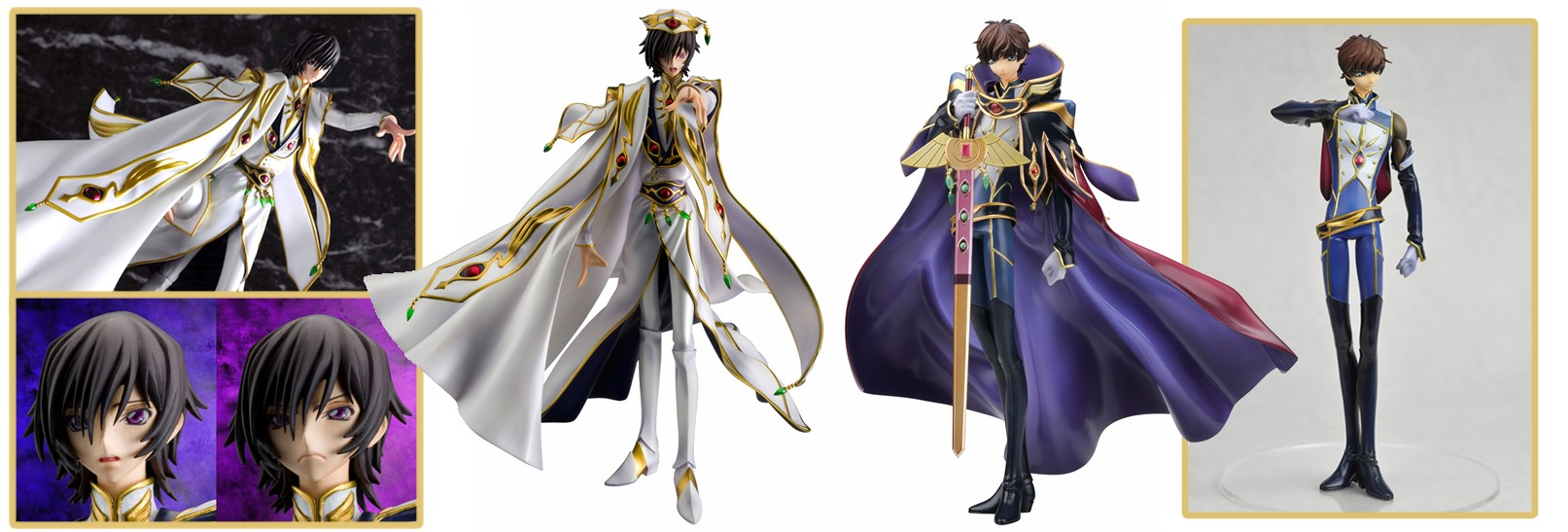 MegaHouse – Code Geass: Lelouch of the Rebellion R2: Lelouch Lamperouge & Kururugi Suzaku