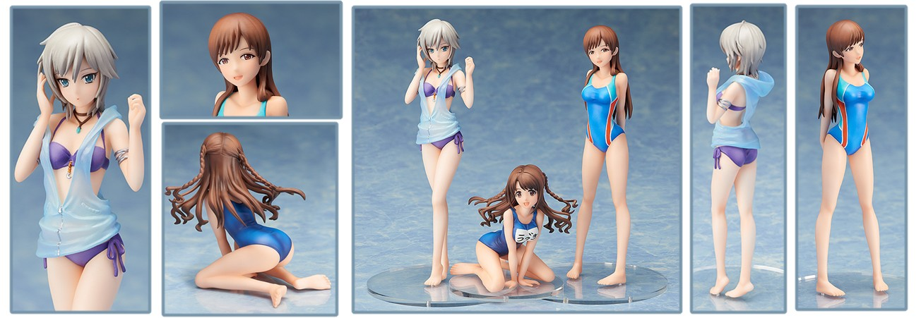 FREEing – iDOLM@STER Cinderella Girls: Anastasia, Uzuki Shimamura & Minami Nitta S-style 1/12-Scale Swimsuit Ver.