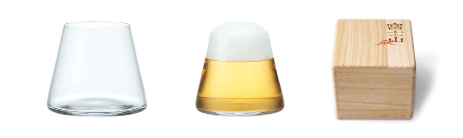 Sugahara Glassworks Mt. Fuji Beer Glass