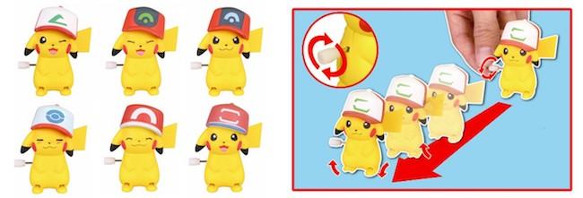 Pokemon Gashapon Figures: Pokemon Movie 20th Anniversary Pikachu Collection