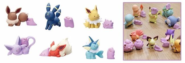 Pokemon Gashapon Figures: Pokemon Center Gashapon Ditto Transforms! Figures