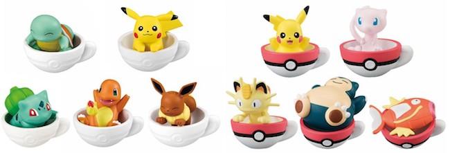 Pokemon Gashapon Figures: Pokemon Teacup Time Mascots
