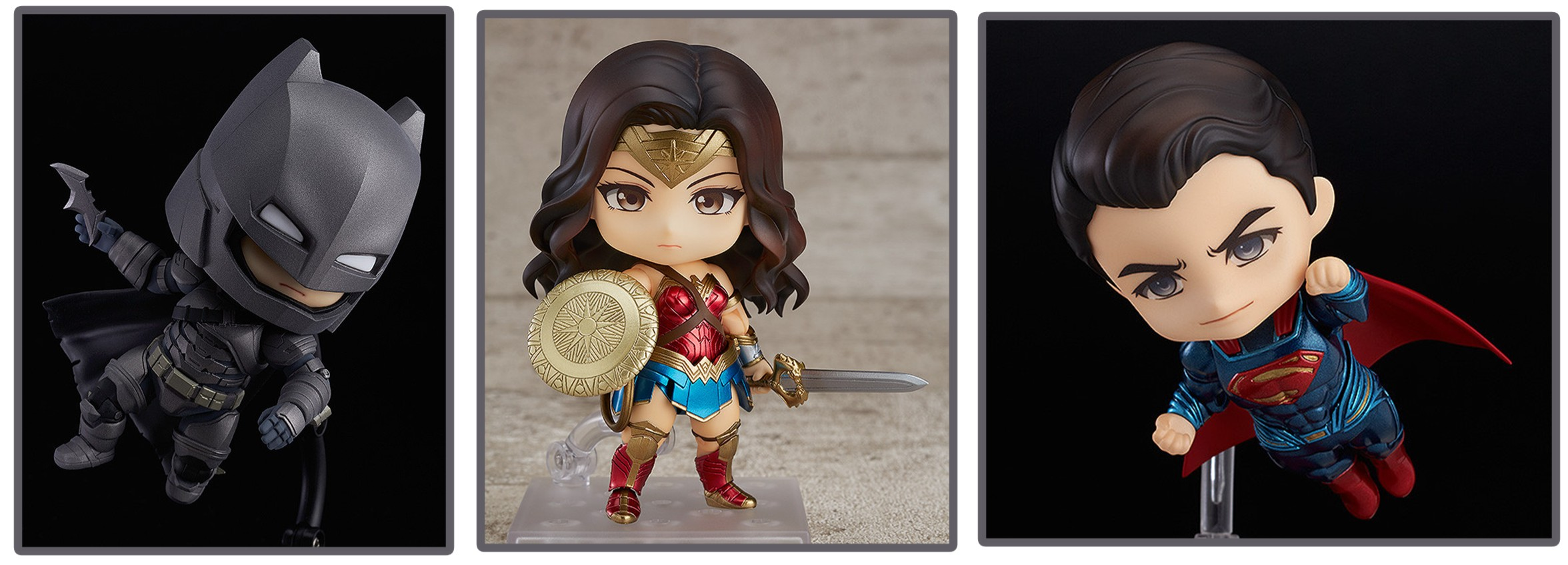 Good Smile Company – Nendoroid: Batman, Wonder Woman, & Superman Figures