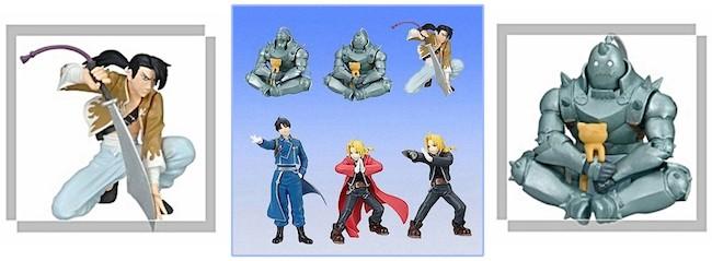 Fullmetal Alchemist Figures: Bandai – Fullmetal Alchemist Gashapon Figures