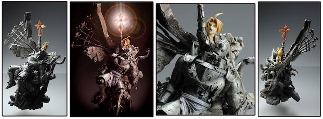Fullmetal Alchemist Figures: Kotobukiya – Sculpture Arts: Edward and Alphonse Complete Statue